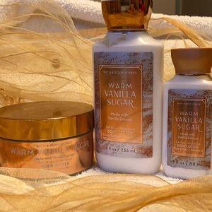 Bath & Body Works Warm Vanilla Sugar Set